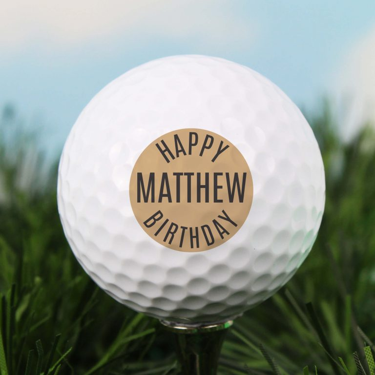 Personalised Golf Ball – Happy Birthday