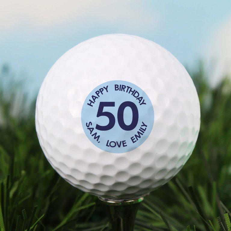 Personalised Golf Ball – Blue Big Age