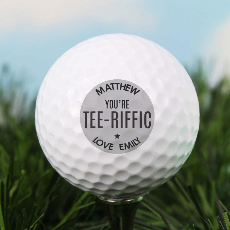 Personalised Golf Ball – Tee-riffic