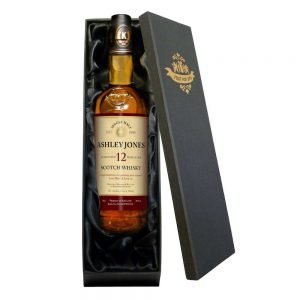 Personalised Single 12 Yr Old Malt Whisky Any Occasion Label in a Silk Lined Box