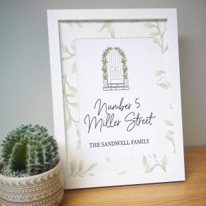 Personalised Home Sweet Home A4 Framed Print