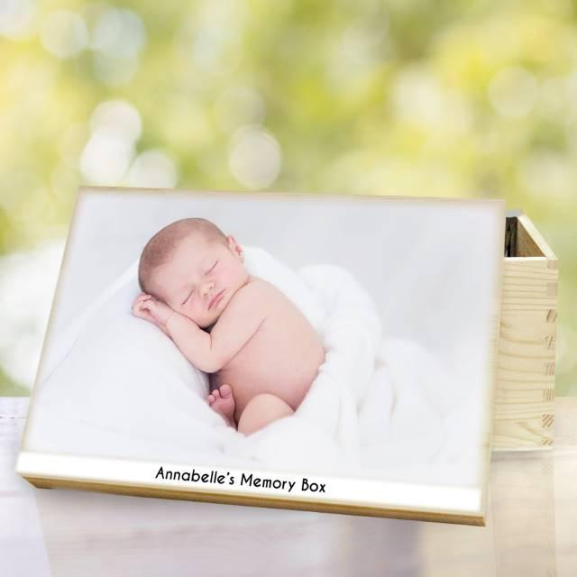 Personalised Photo Upload Memory Box