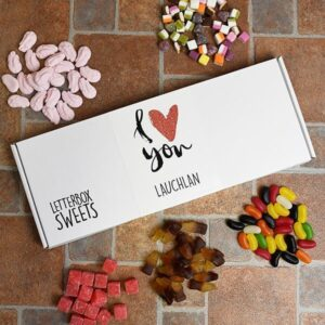 Personalised Letterbox Sweets –  I Love You