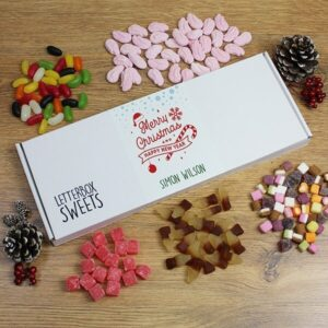 Personalised Letterbox Sweets – Merry Christmas