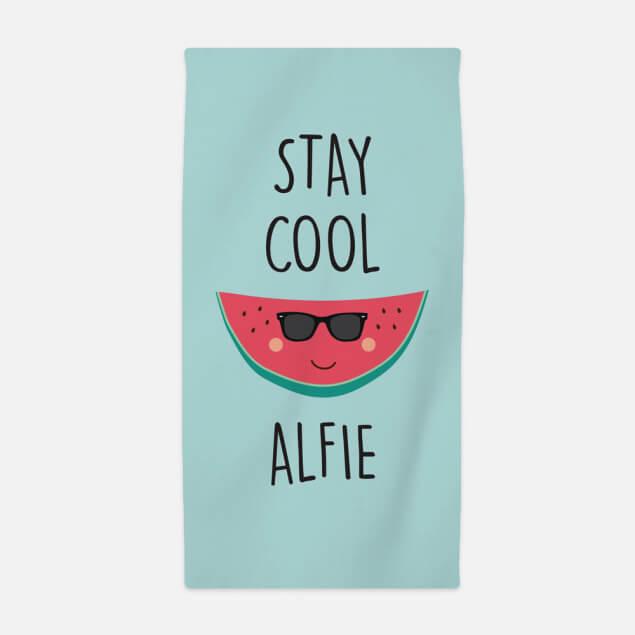 Personalised Stay Cool Kids Beach Towel
