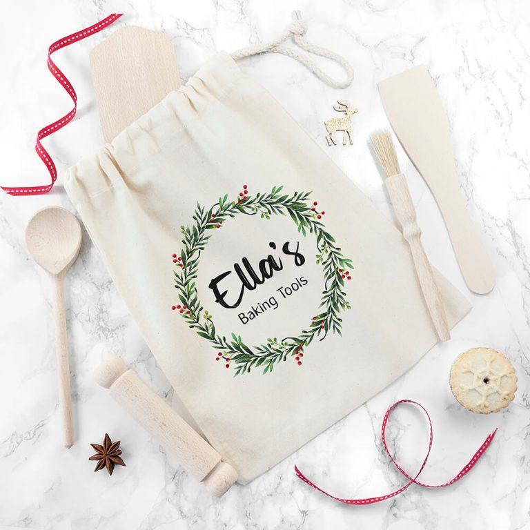 Personalised Kids Christmas Baking Set