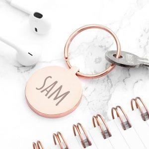 Personalised Round Keyring