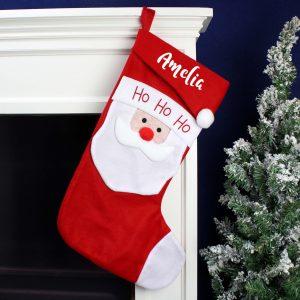 Personalised Name Only Santa Christmas Stocking