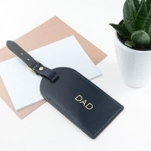 Personalised Leather Luggage Tag – Navy