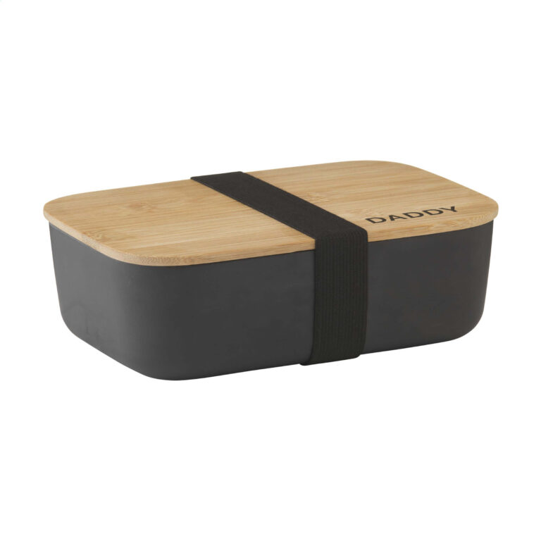 Personalised Bamboo Lunchbox – Black