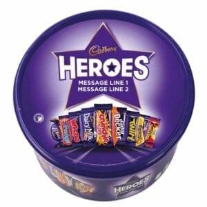 Personalised Cadbury Heroes Tub 580g