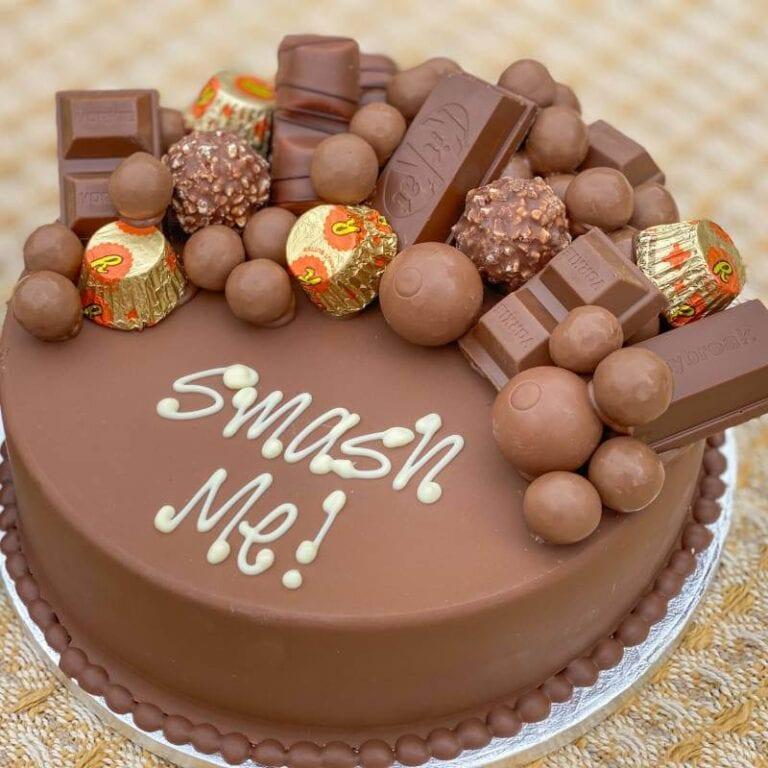 Personalised Chocoholics Smash Cake