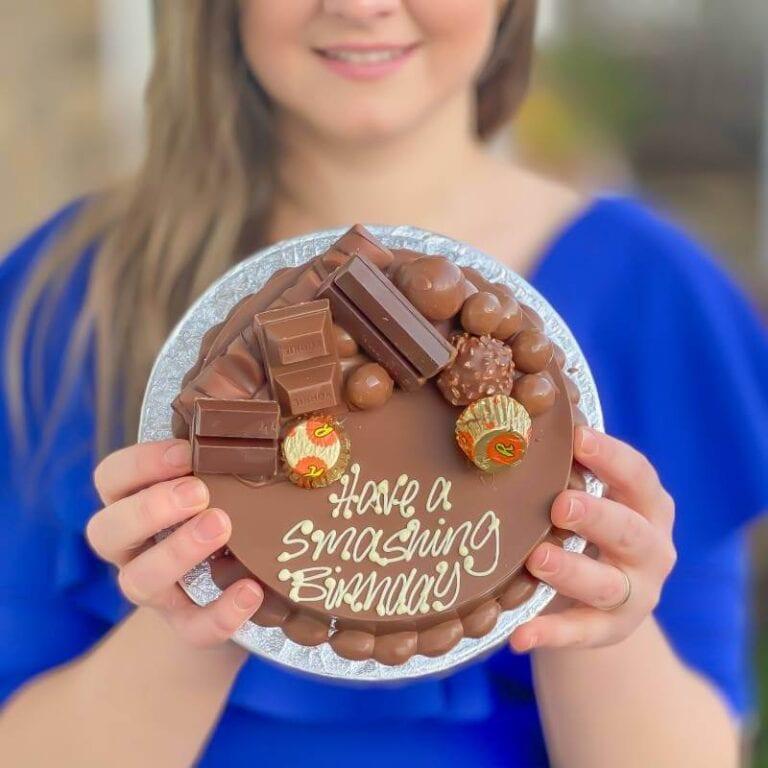 Personalised Mini Chocolate Smash Cake