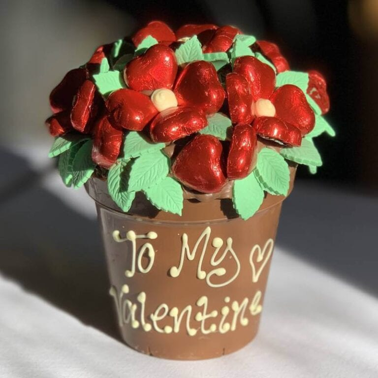 Personalised Red Chocolate Smash Flower Pot