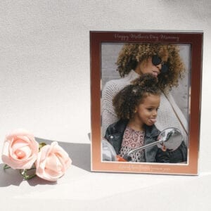 Personalised Rose Gold 5×7 Photo Frame