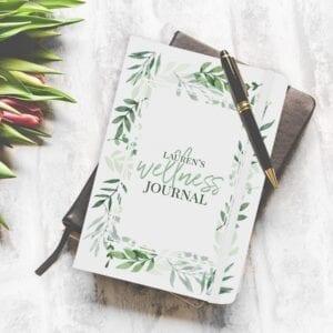 Personalised Floral Wellness Journal