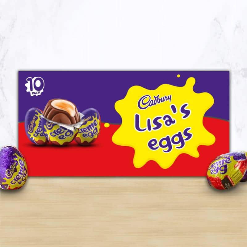 Personalised Cadbury Creme Eggs Box x 10