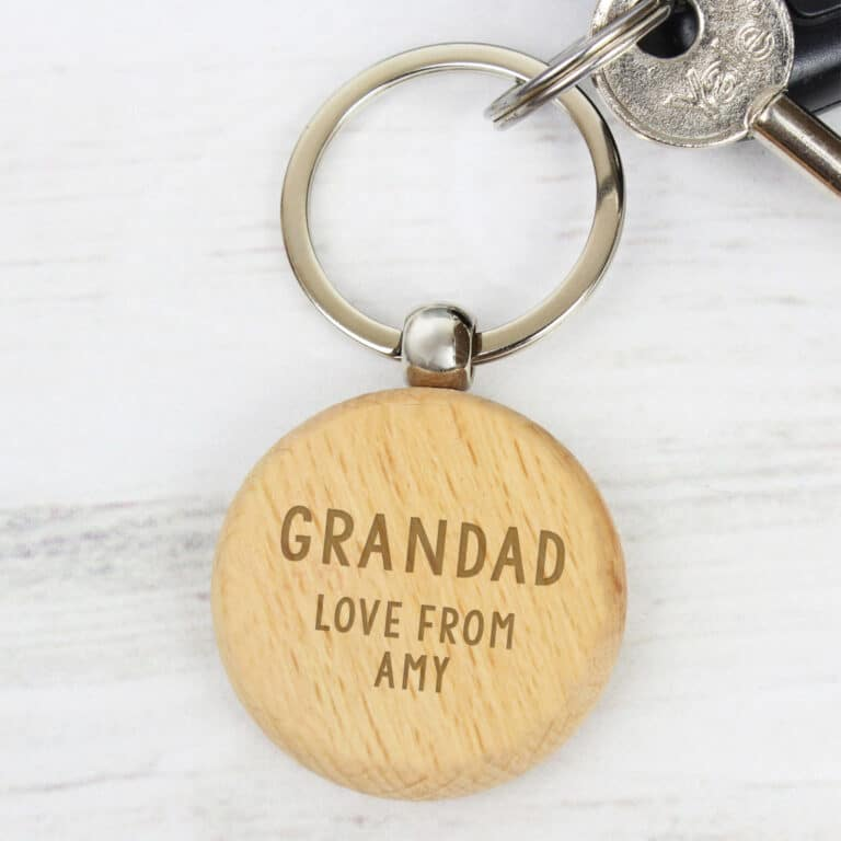 Personalised Any Message Wooden Key Ring