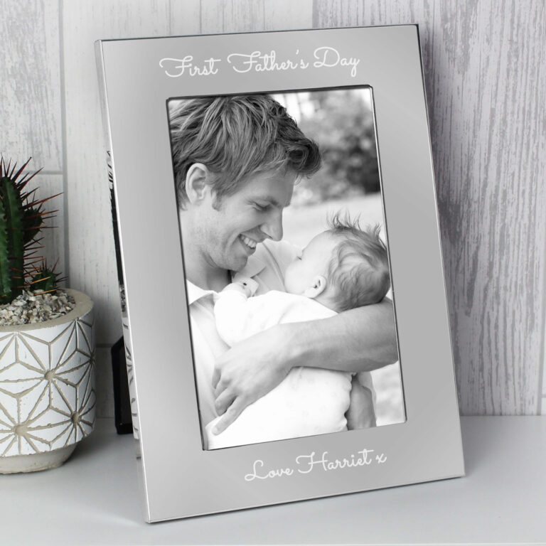 Personalised Any Message 7×5 Silver Photo Frame