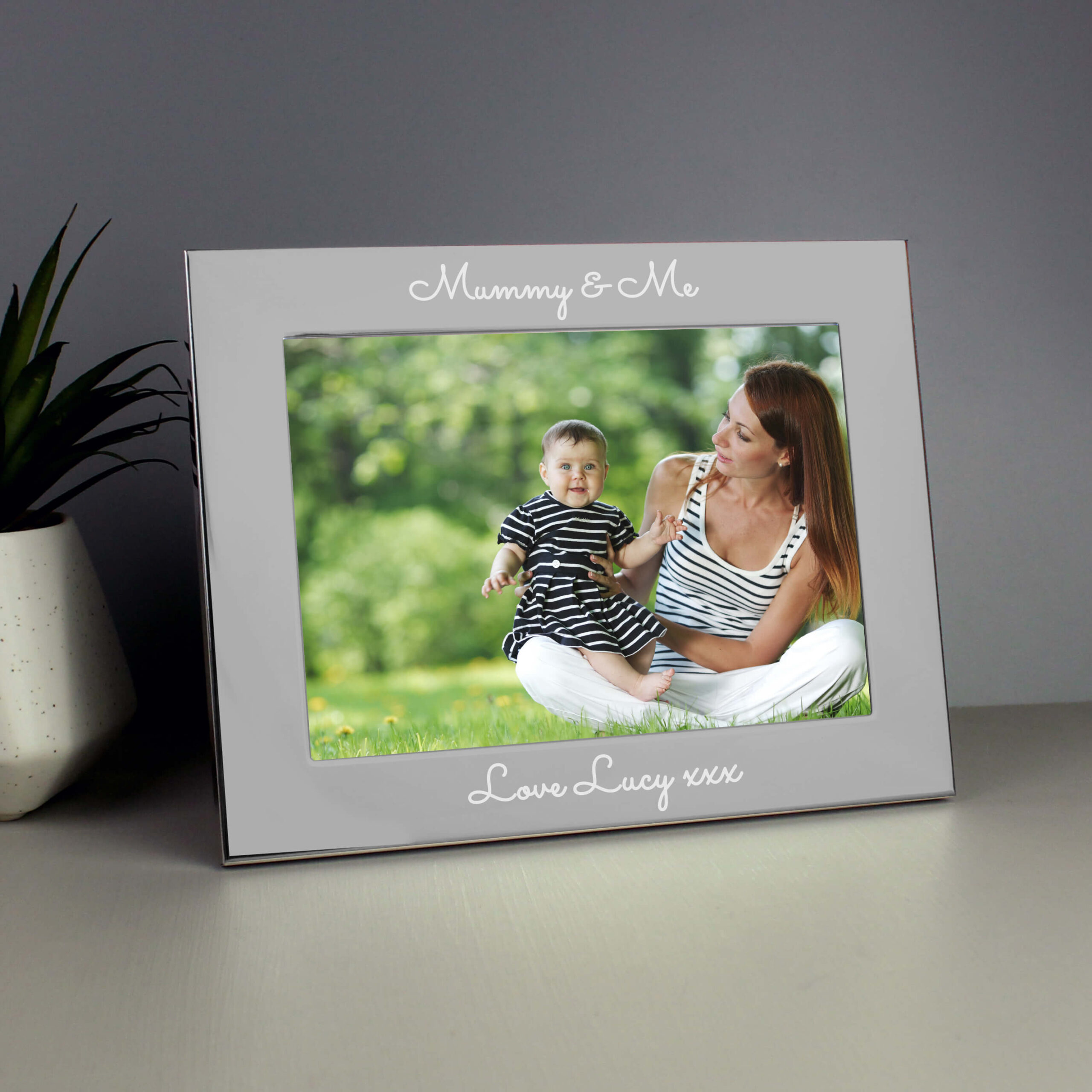 Personalised Any Message 5×7 Silver Photo Frame