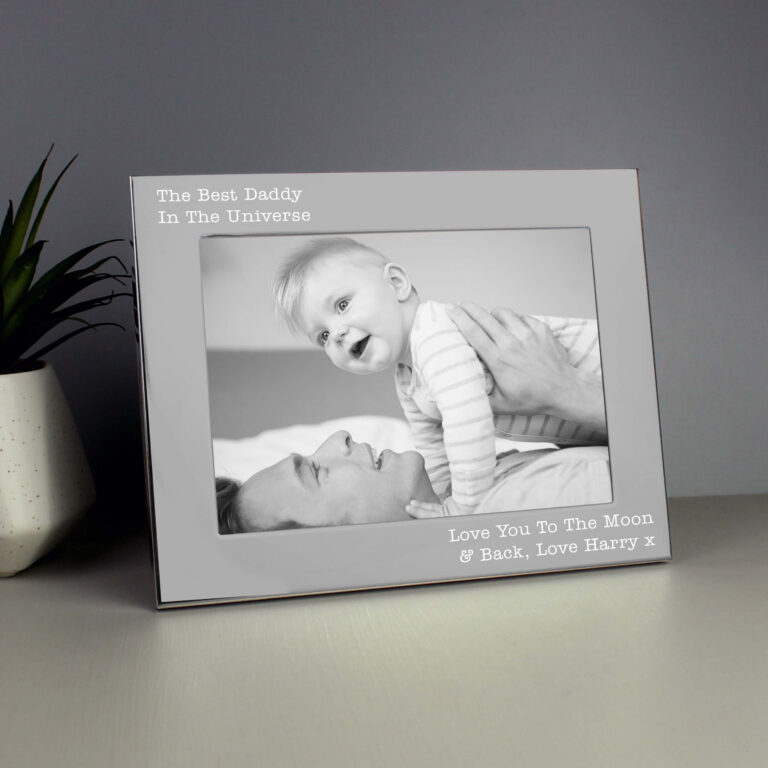 Personalised Landscape 5×7 Silver Photo Frame