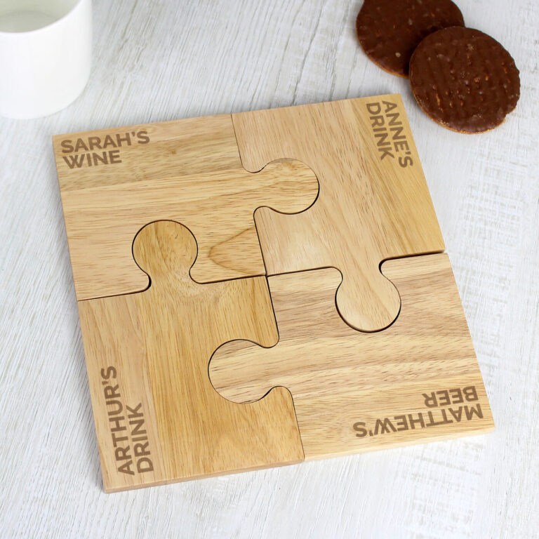 Personalised Any Message Jigsaw Coasters