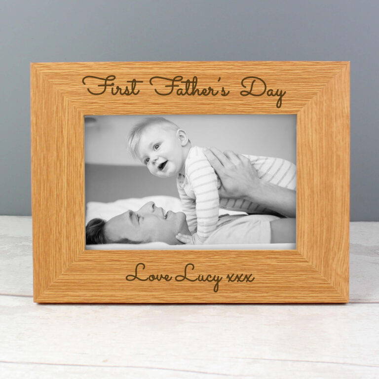 Personalised Any Message 6×4 Wooden Photo Frame