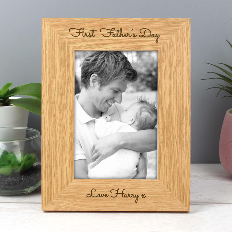 Personalised Any Message 4×6 Wooden Photo Frame