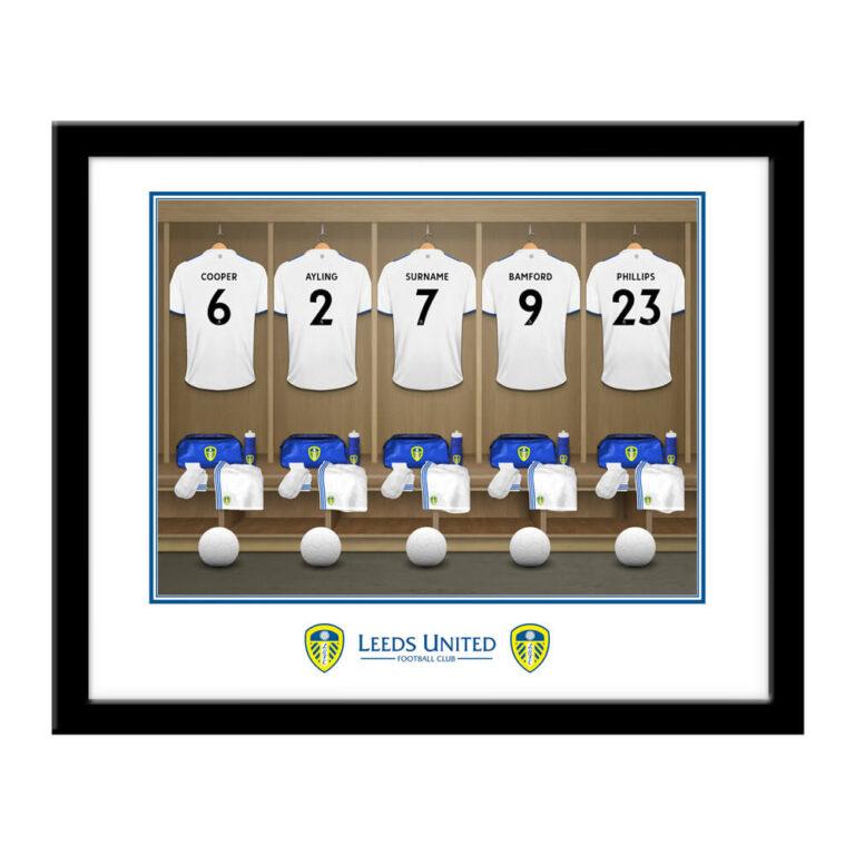 Personalised Leeds United FC Dressing Room Framed Print