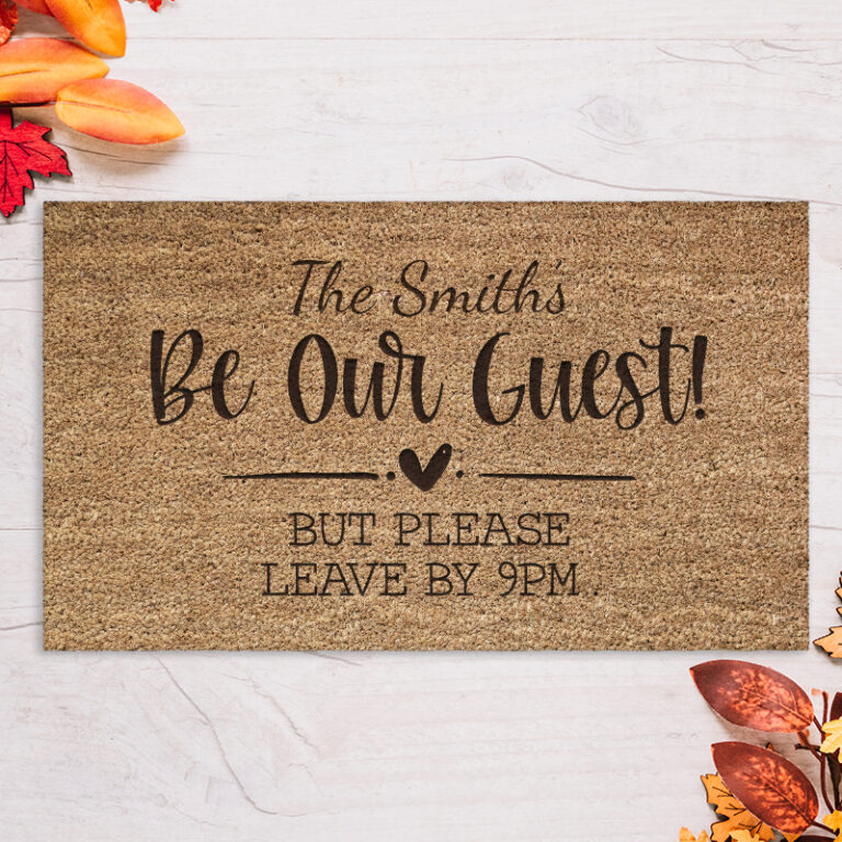 Personalised Door Mat – Be Our Guest