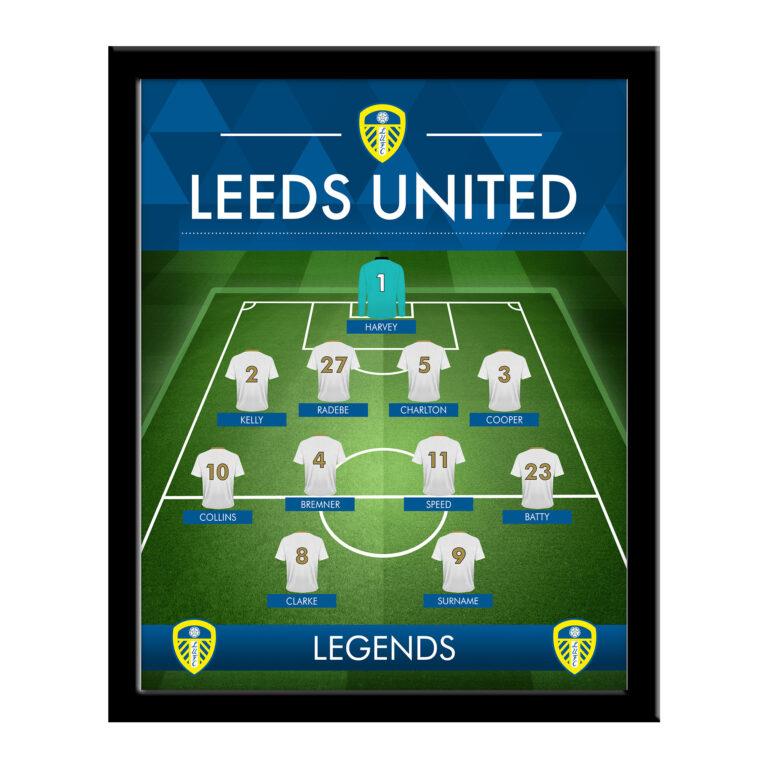 Personalised Leeds United FC Legends Framed Print