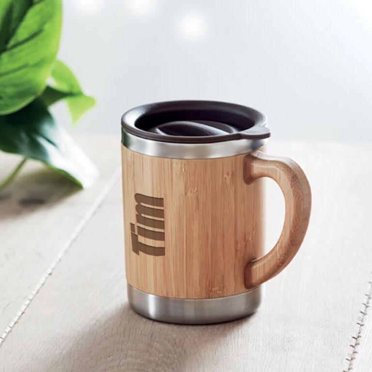 Personalised Bamboo Insulated Coffee Mug