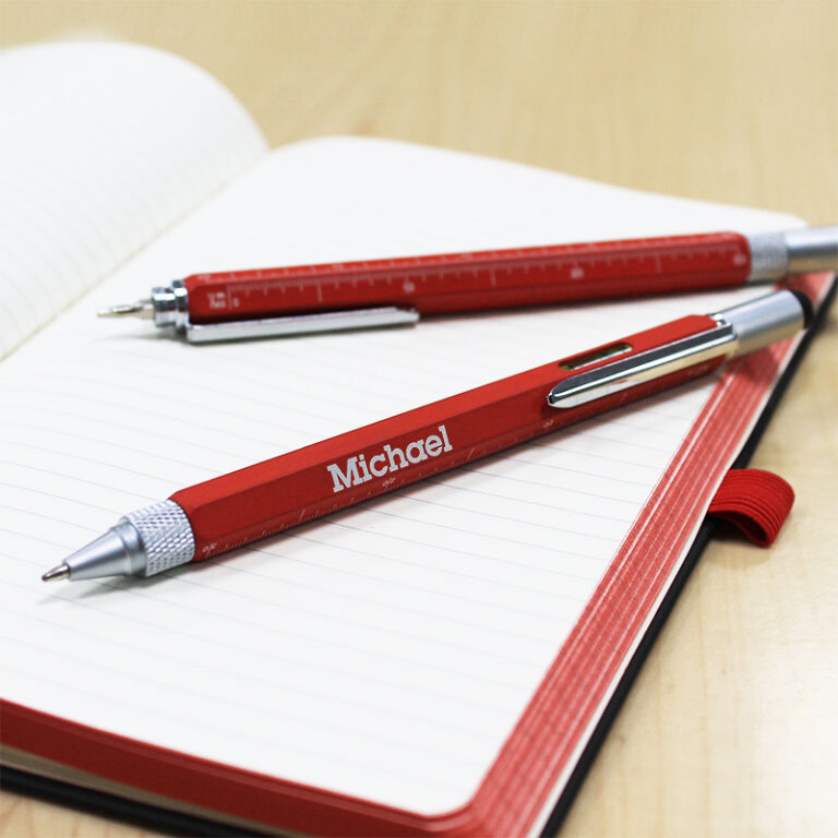 Personalised Red Multi Function Pen
