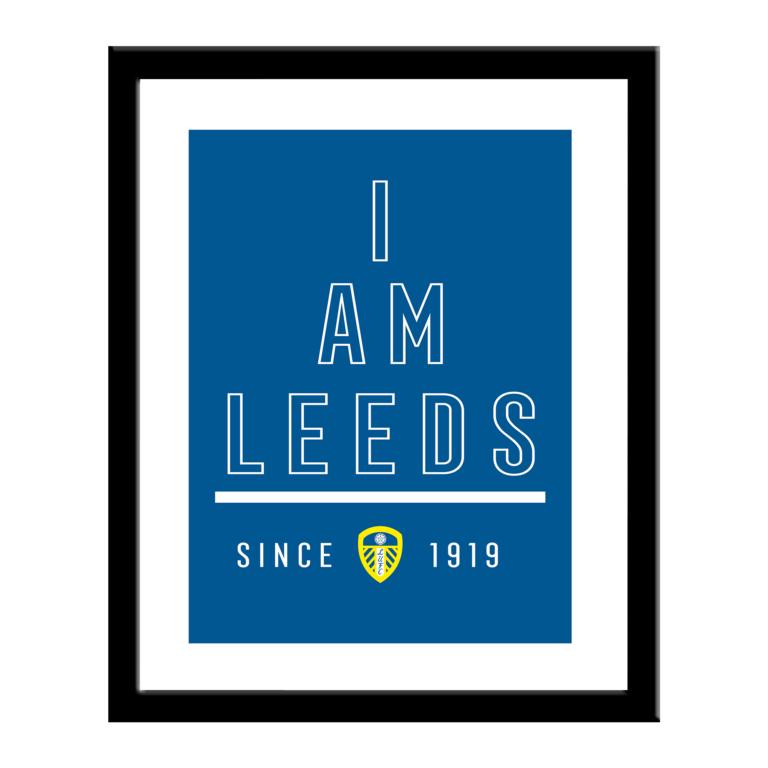 Personalised Leeds United FC I Am Print