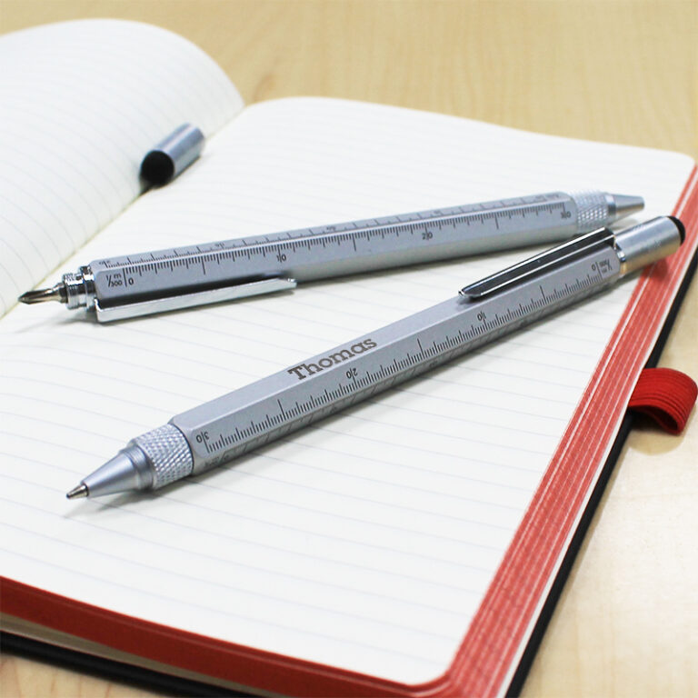 Personalised Silver Multi Function Pen