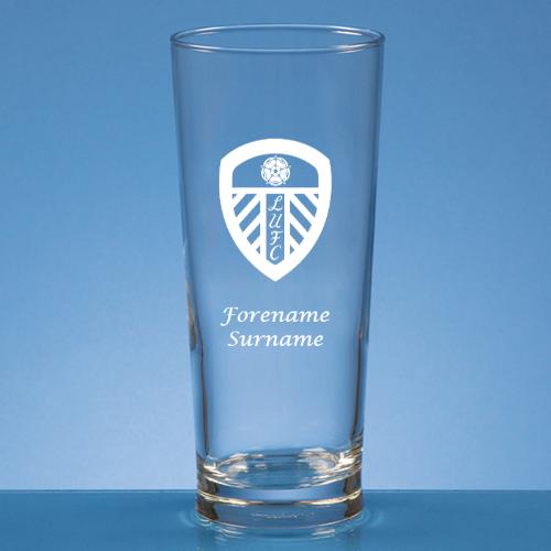 Personalised Leeds United FC Beer Glass