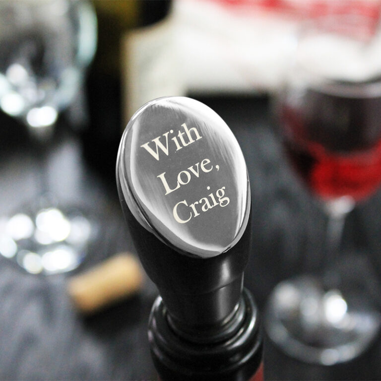 Personalised Bedford Wine Stopper