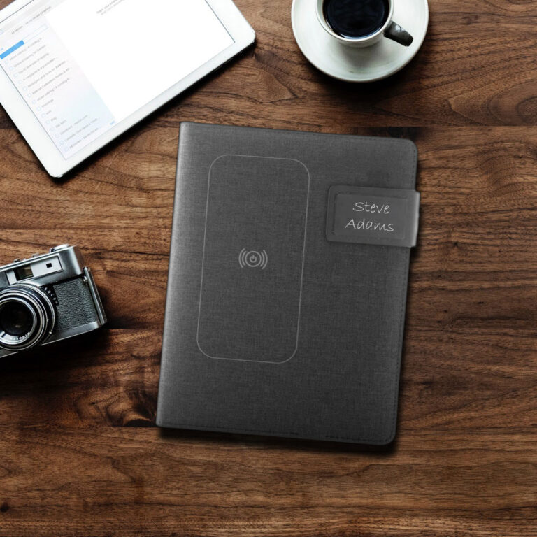 Personalised Notepad with Wireless Charger
