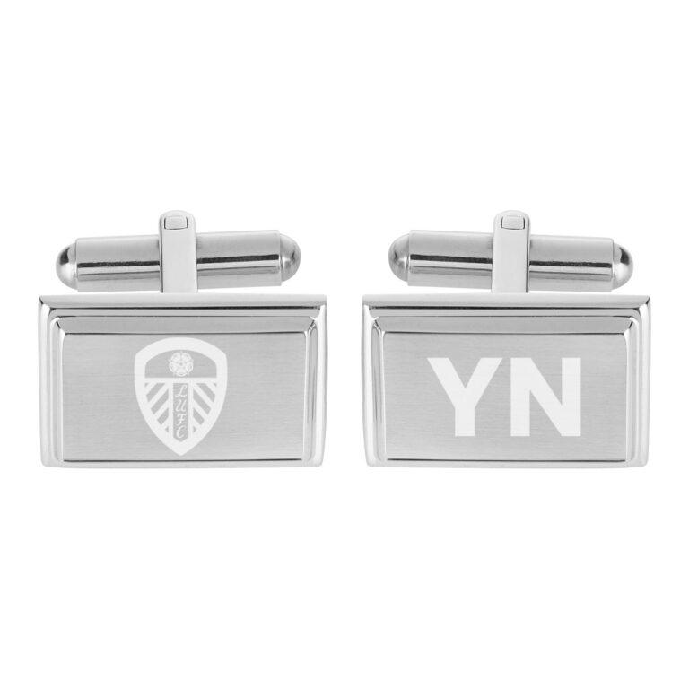 Personalised Leeds United FC Crest Cufflinks