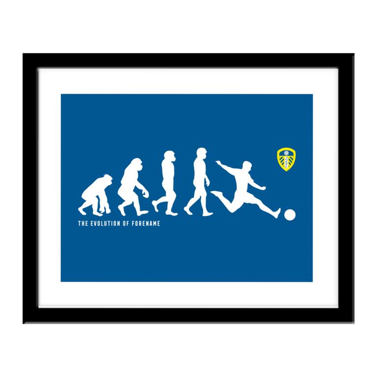 Personalised Leeds United FC Evolution Print