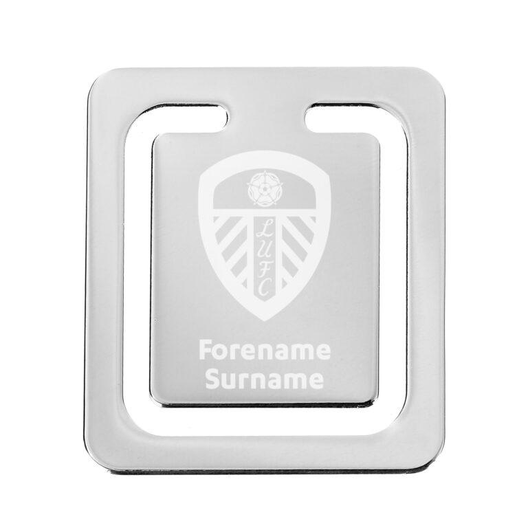 Personalised Leeds United FC Crest Bookmark