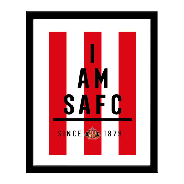 Personalised Sunderland FC I Am Print