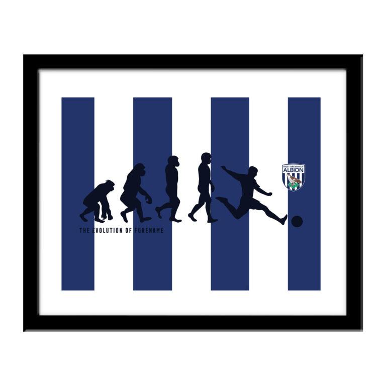 Personalised West Brom FC Evolution Print