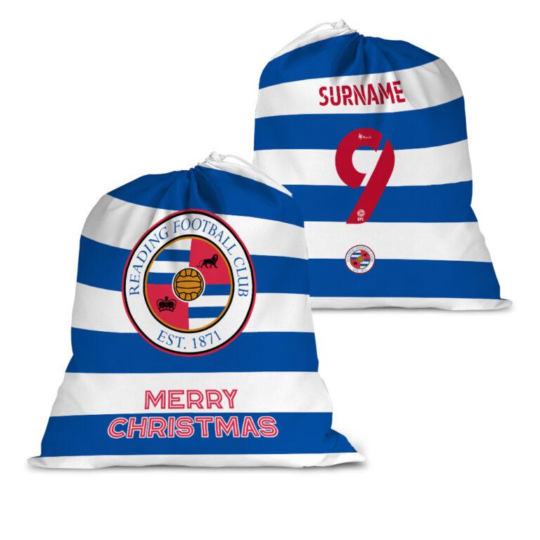 Personalised Reading FC Back of Shirt Santa Sack