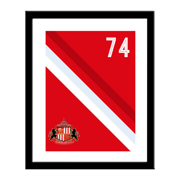 Personalised Sunderland FC Stripe Print