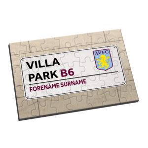 Personalised Aston Villa FC Street Sign Jigsaw