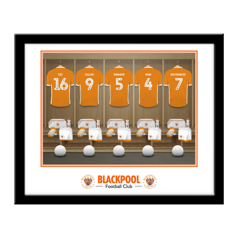 Personalised Blackpool FC Dressing Room Framed Print