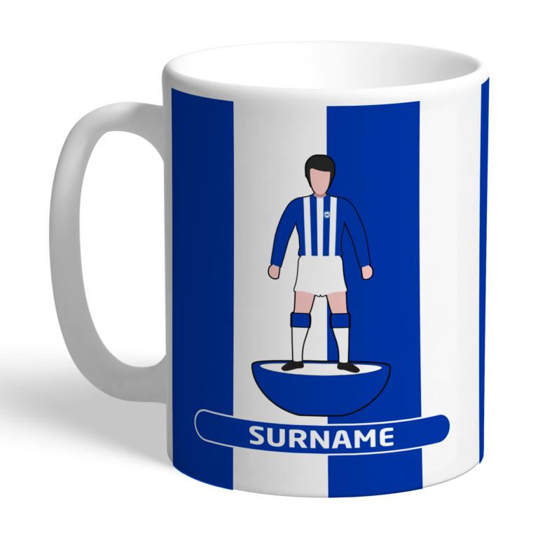 Personalised Brighton & Hove Albion FC Player Figure Mug