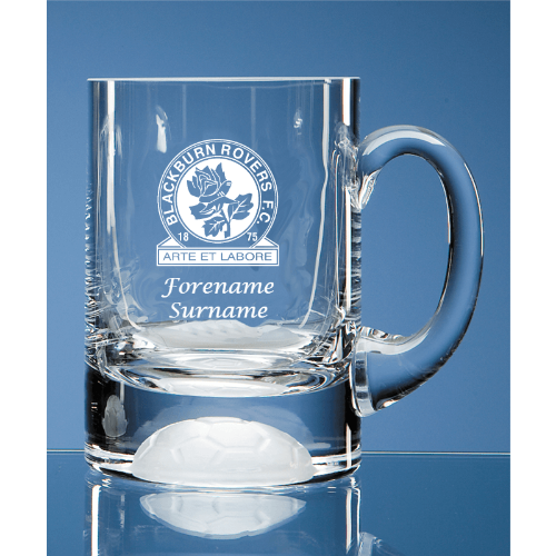 Personalised Blackburn Rovers FC Ball Base Tankard
