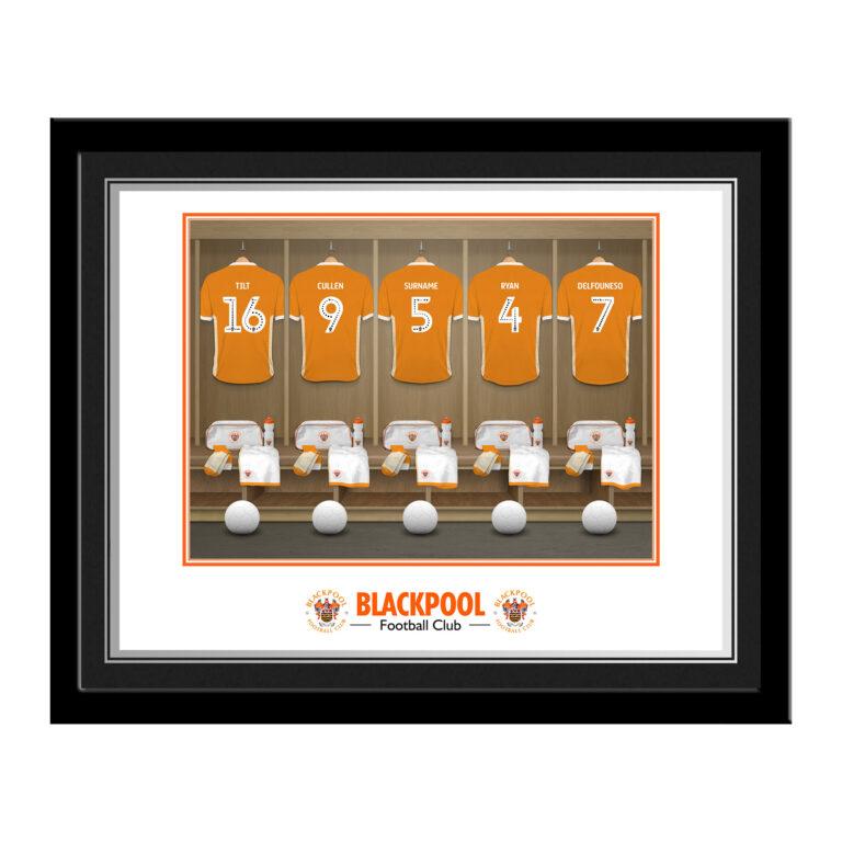Personalised Blackpool FC Dressing Room Photo Framed